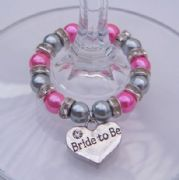 Bride To Be Wine Glass Charm - Full Sparkle Style